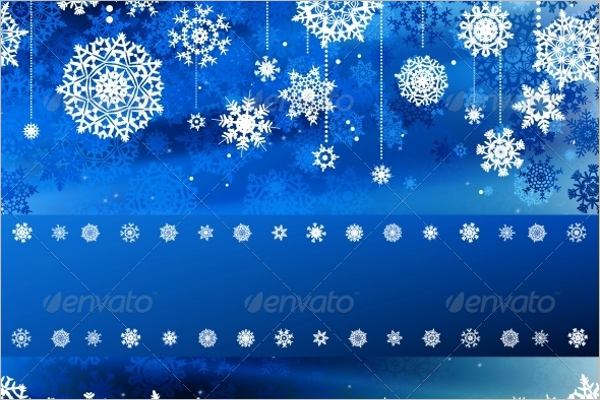 Christmas Blue Wave Background