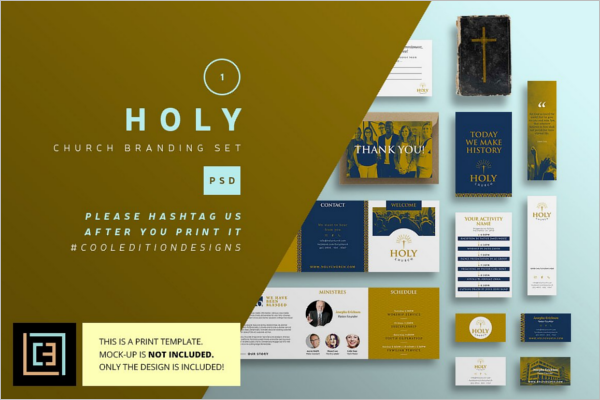 Church Branding Business Card Template