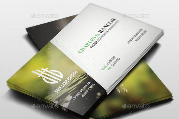 Church Pastor Business Card Template