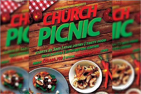 Church Picnic Business Card Template
