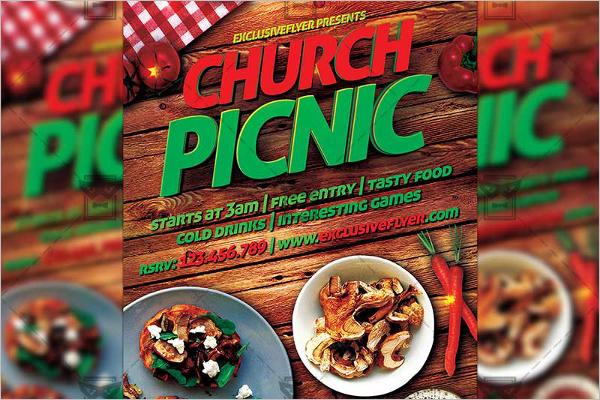 Church Picnic Business Card Template
