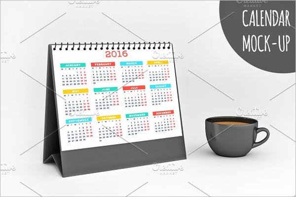 Classic Desk Calendar Template