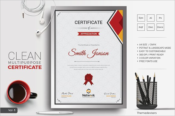 Clean Business Certificate