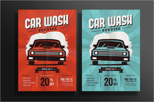 Clean Car Wash Flyer Template