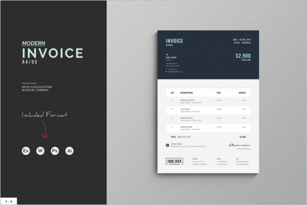 Clean Invoice Proposal Template