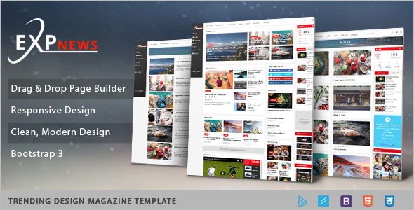 Clean News Portal Joomla Template