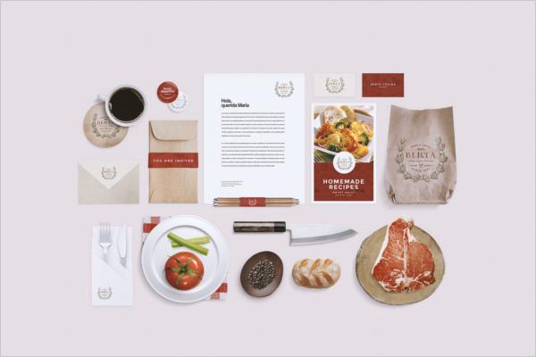 Clean Restaurant Branding Mockup