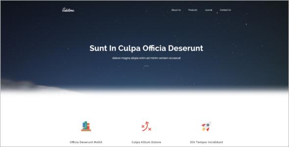 Clean jQuery Website Template