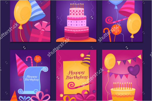 Collection Birthday Card Poster
