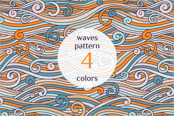 Color Waves Pattern