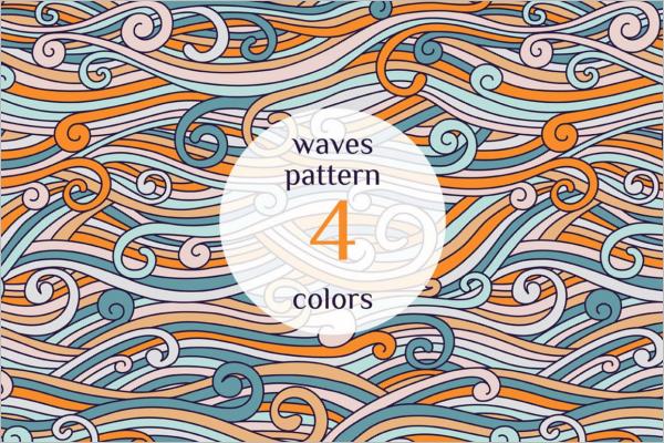 Color Waves Pattern