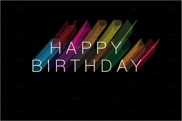 Colorful Birthday Poster Design