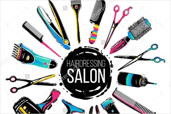 Colorful Hairdresser Design