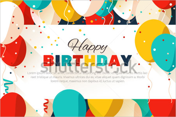 Colorful Happy Birthday Poster