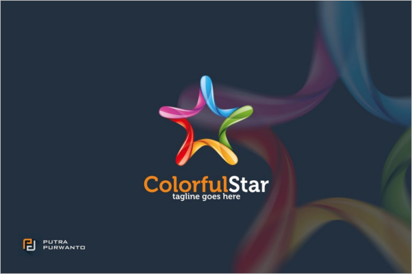 Colorful Star-Abstract Logo Template
