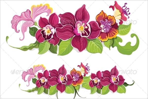 Colorful Summer Flower Garland