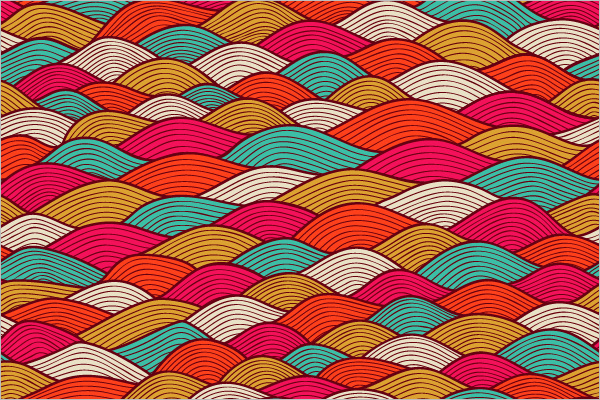 Colorful Wave background