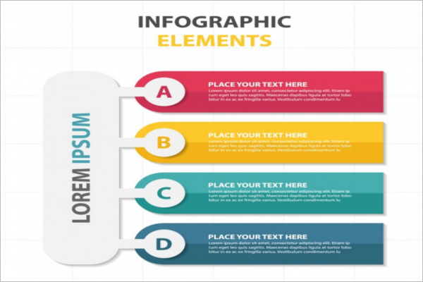 Colorful infographic elements flyer template