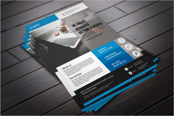 Company Advertisement Posters Design