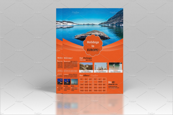 Company Travel Agency Flyer Design