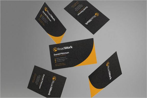 Construction Business Card Vector