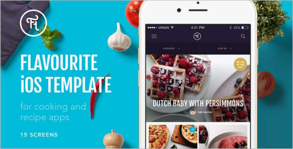 Cooking PSD Sketch Template
