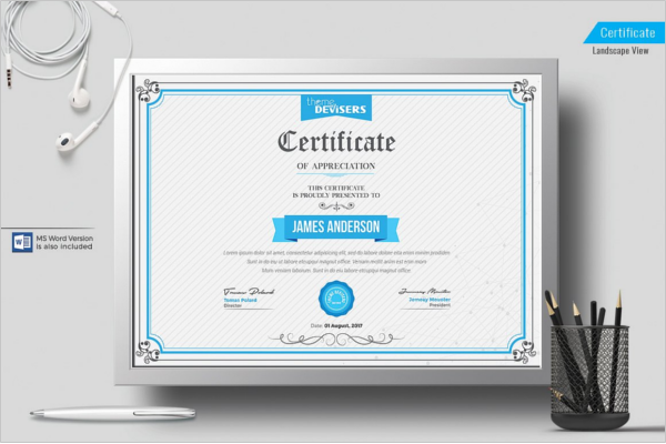Corporate Certificate Templates