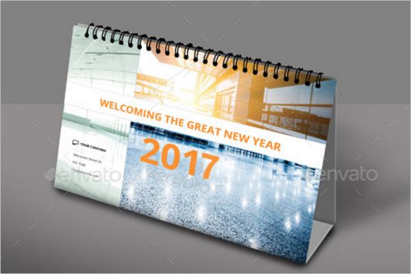 Corporate Desk Calendar Mock Up