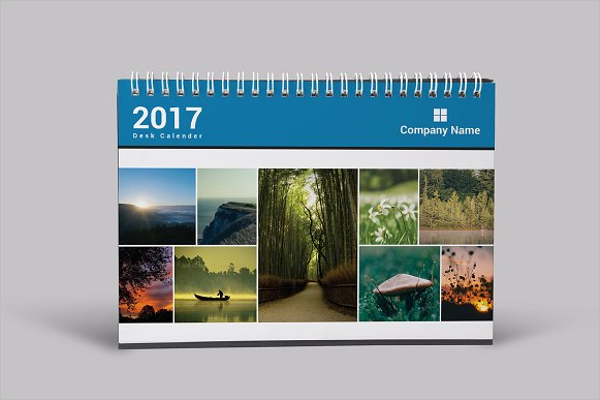 Corporate Calendar 2017 : Desk calendar mockup templates free psd download