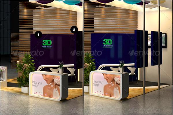 Free Cosmetics 3D Wall Logo