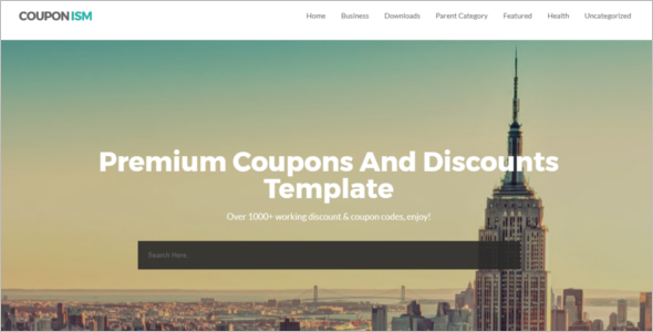 Coupon Free Blog Template