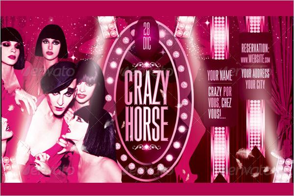 Crazy Horse Flyer Design