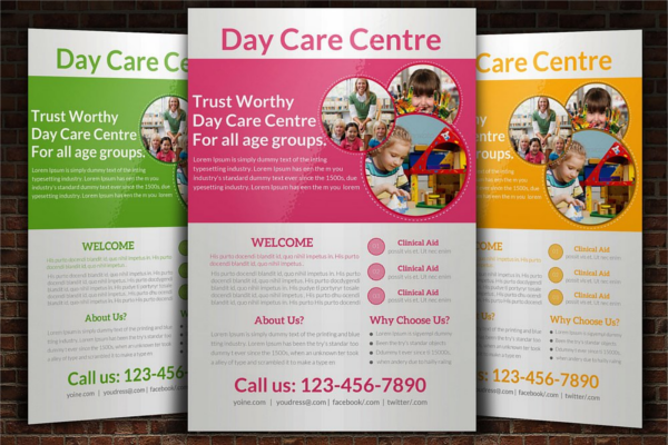 Creative Daycare Flyer Template