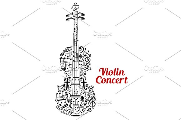 Creative Violin Poster Design