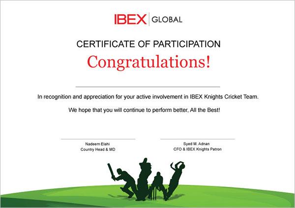 participation certificate templates free premium creative template