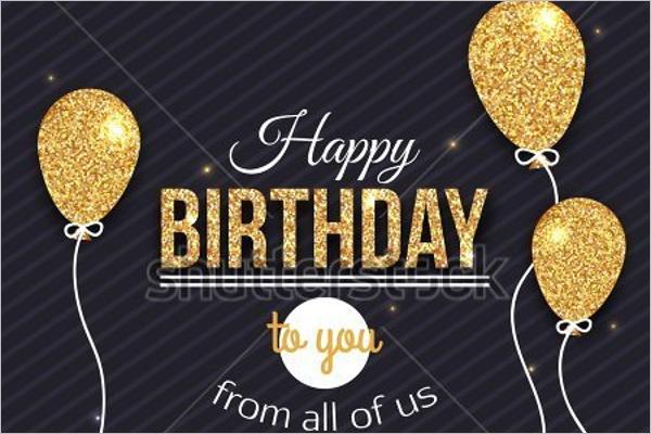 Customizable Birthday Poster Design