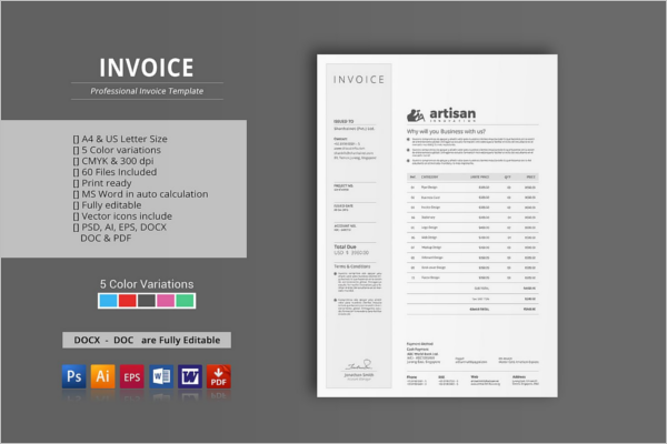 Customize Invoice Proposal Template