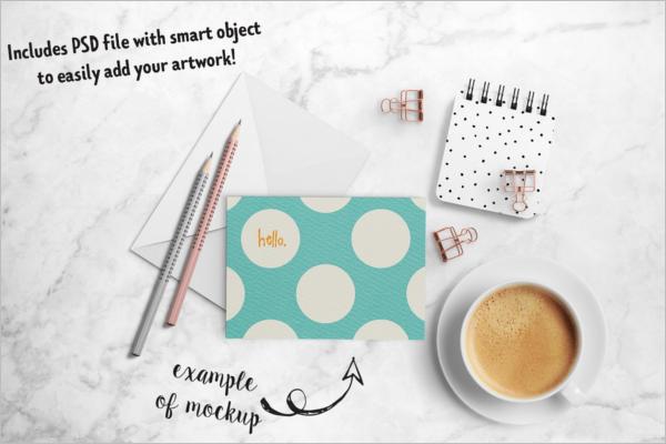 Cute Greeting Card Mockup Template