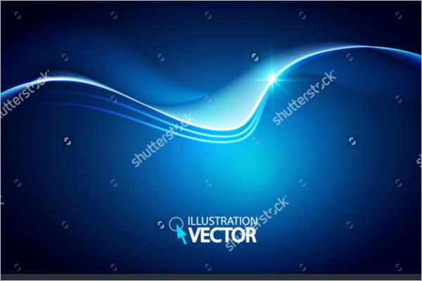 Dark Blue Wave Vector Background