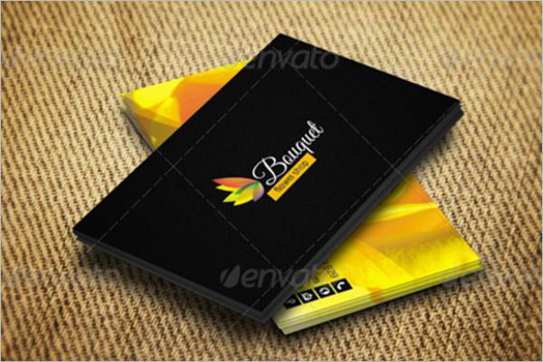 Dark Color Floral Business Card PSD