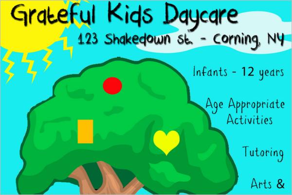 Daycare Gallery Flyer Design