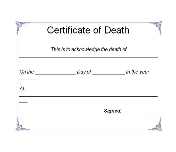 Death Certificate Model