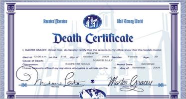 Death Certificate Templates