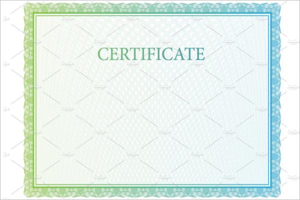 DecorativeBlank Certificate Template
