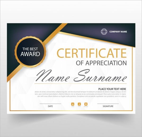 Decorative Horizontal Certificate Template