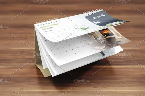 Design Desk Calendar Mock up