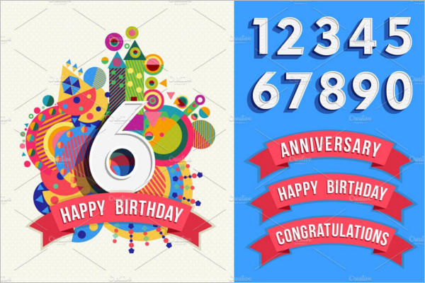 Designed Birthday Poster Template