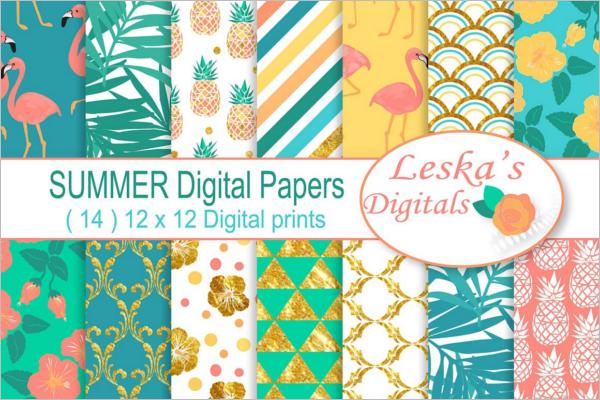 Digital Paper Tropical Pattern