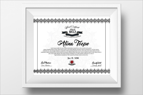 Diploma Training Certificate Template