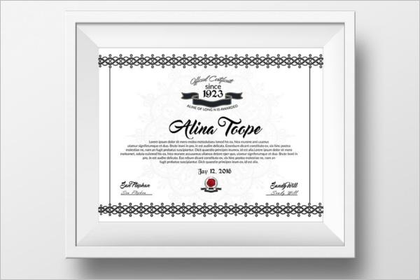 Diploma Training Certificate Template
